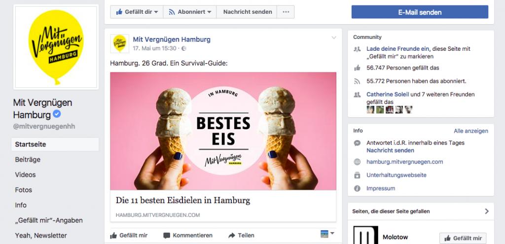 Eis & innig Mit Vergnügen Hamburg Ranking-Post Bestes Eis