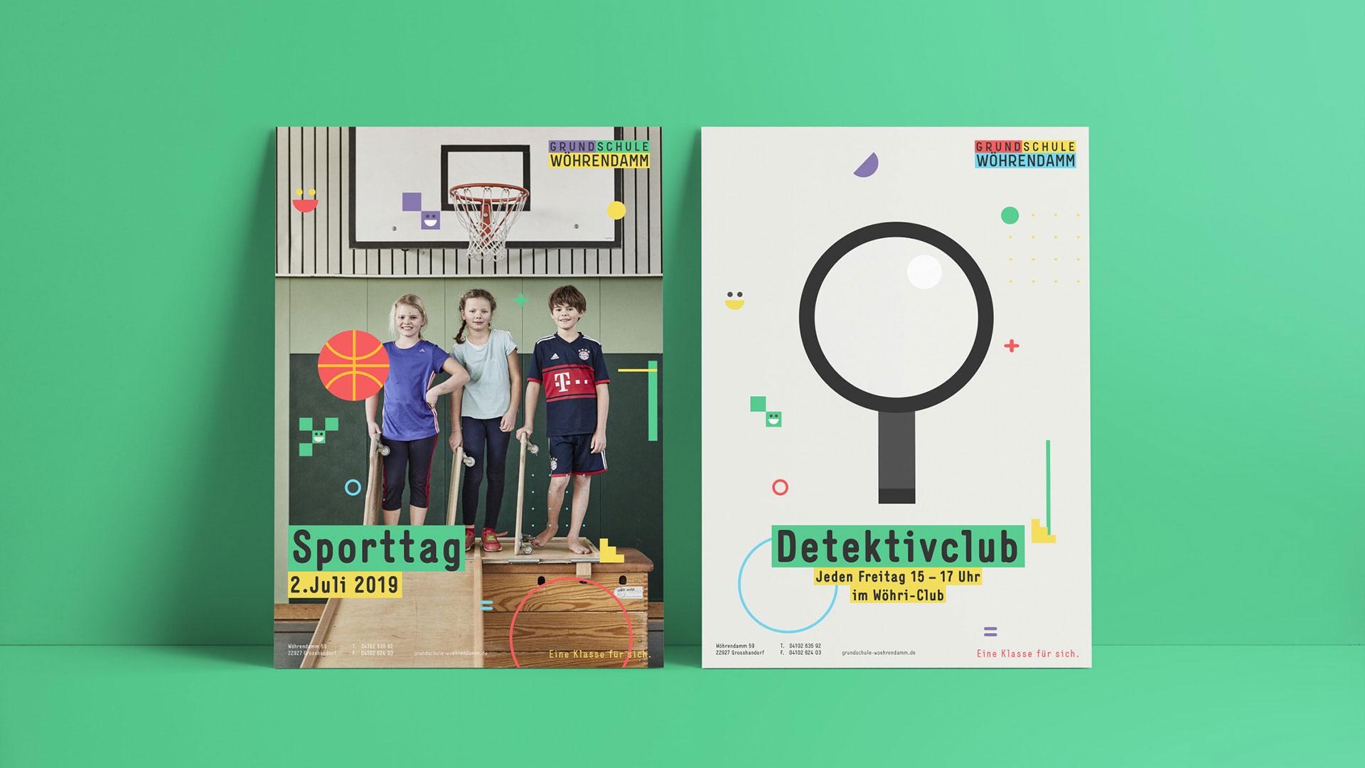 Grundschule Wöhrendamm Poster Detektivclub und Sporttag