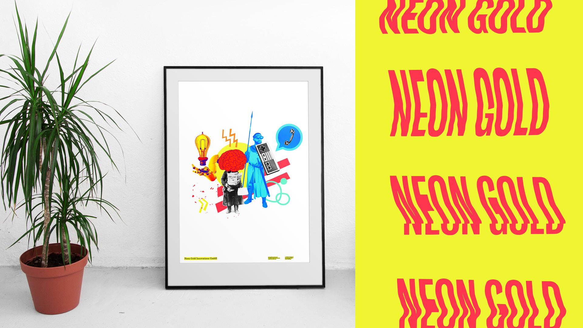 Neon Gold Innovations Logo und Collage