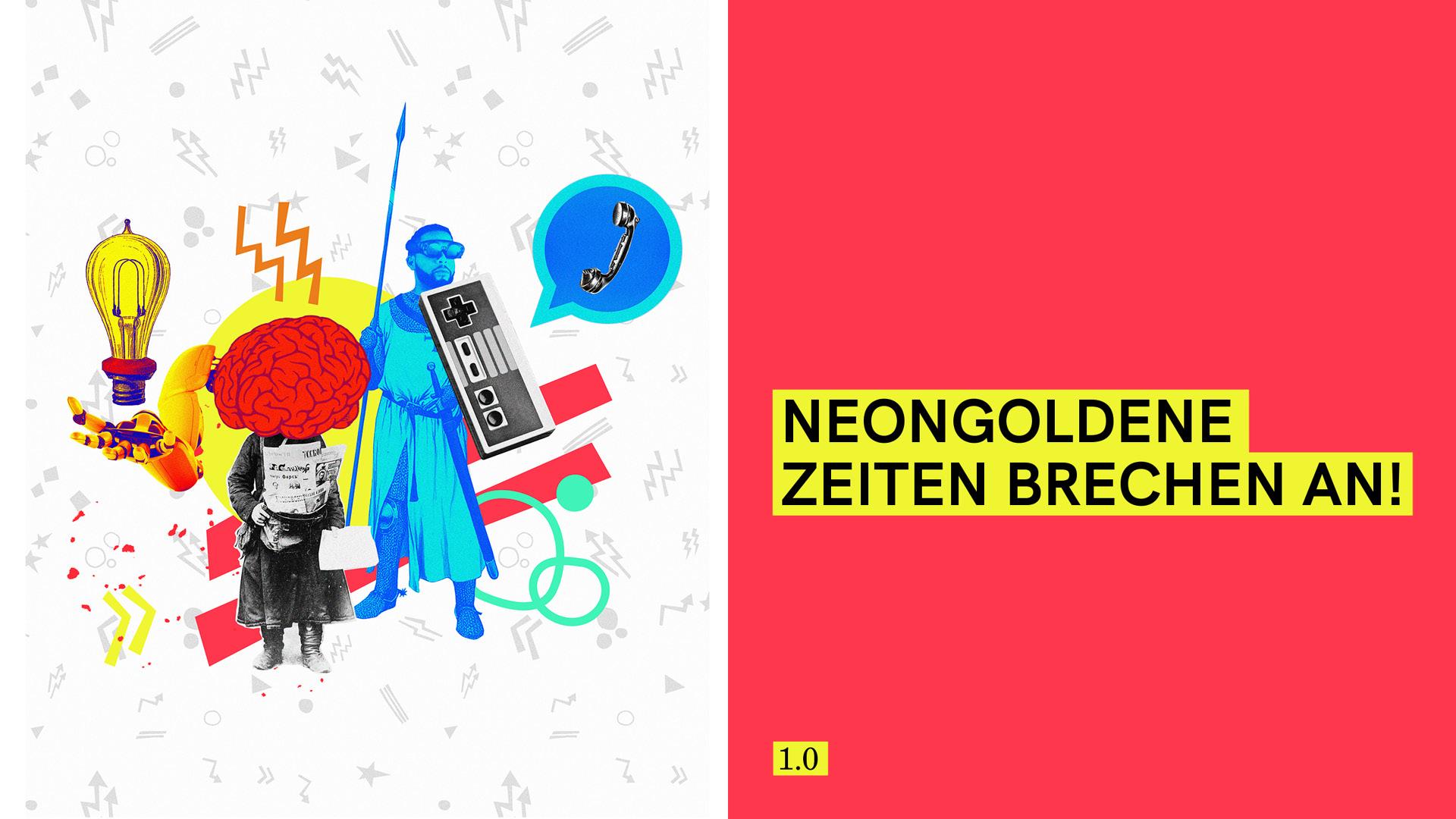 """Neon Gold Innovations """"neongolgende Zeiten brechen an"""""""