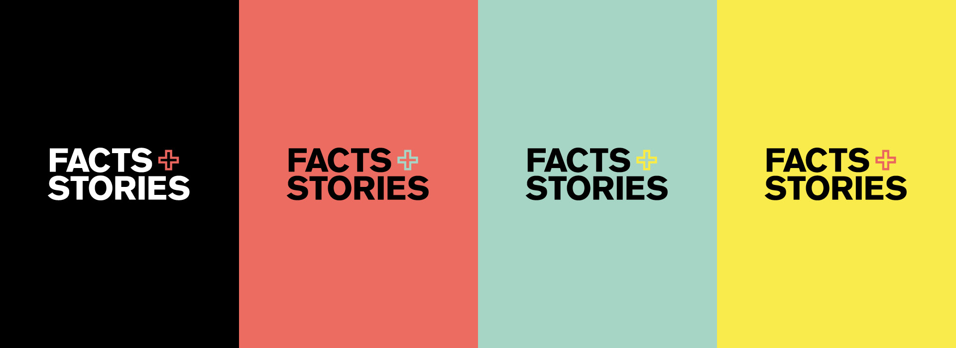 Facts+Stories Logo Farbvarianten