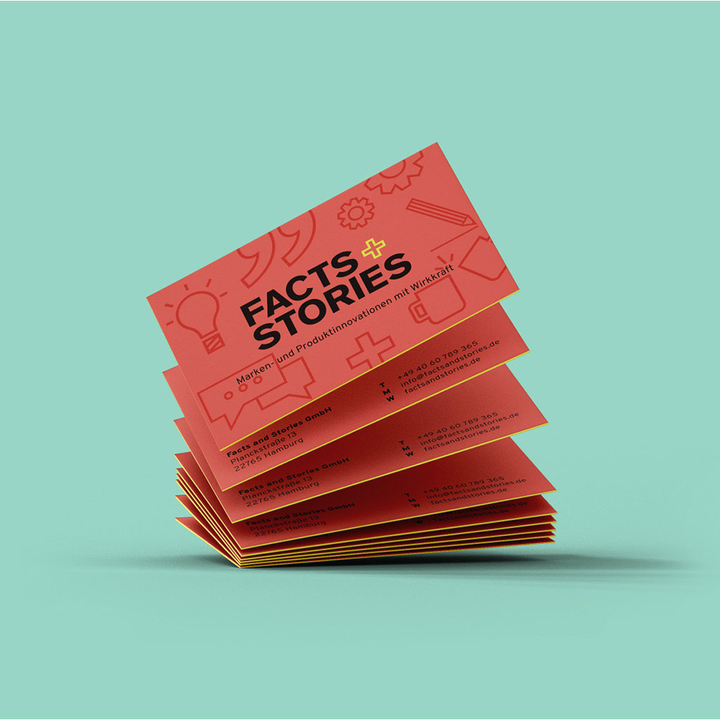 Facts+Stories Visitenkarten-Stapel
