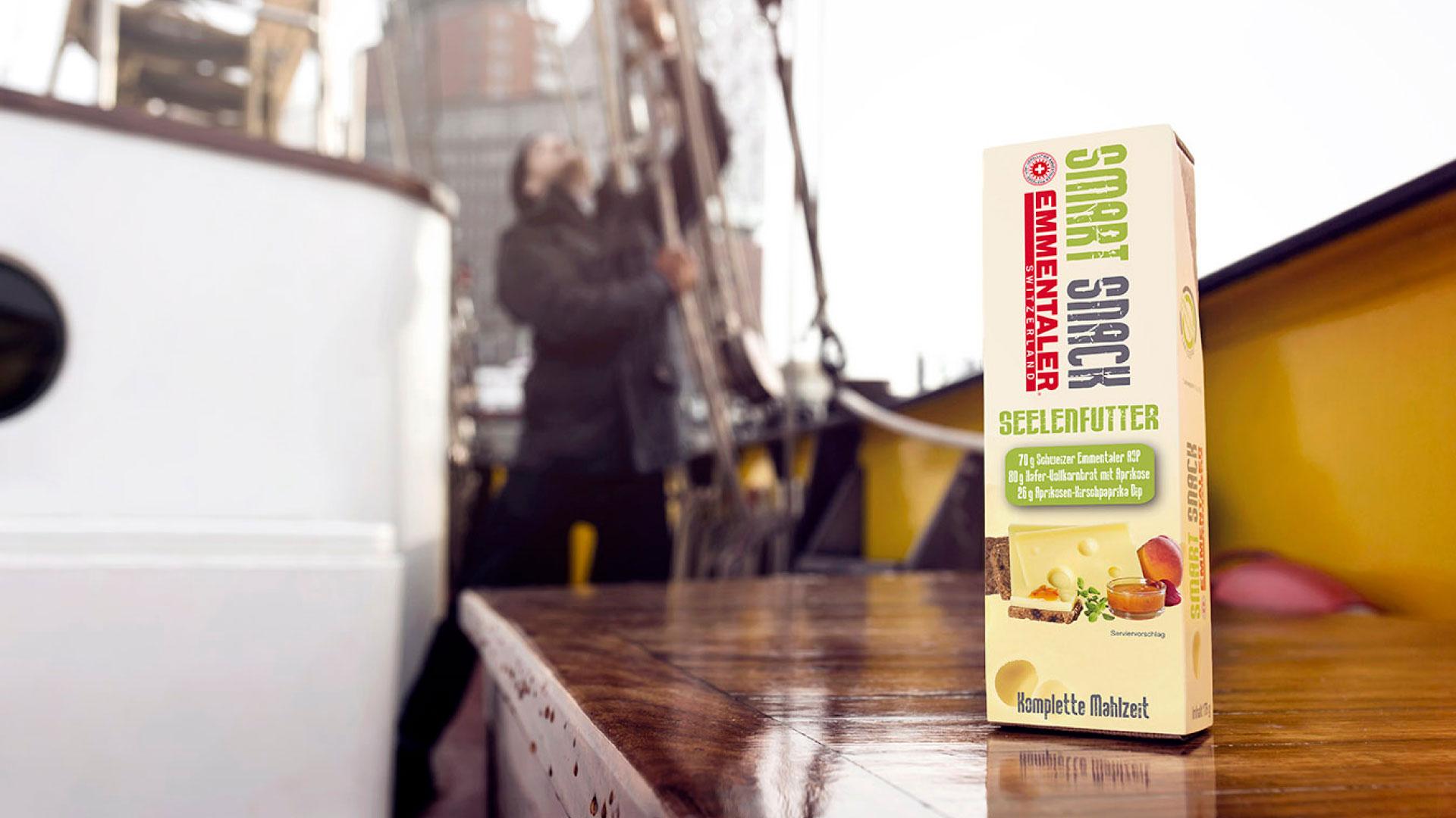 Emmentaler Smart Snack Hafenarbeiter Boot
