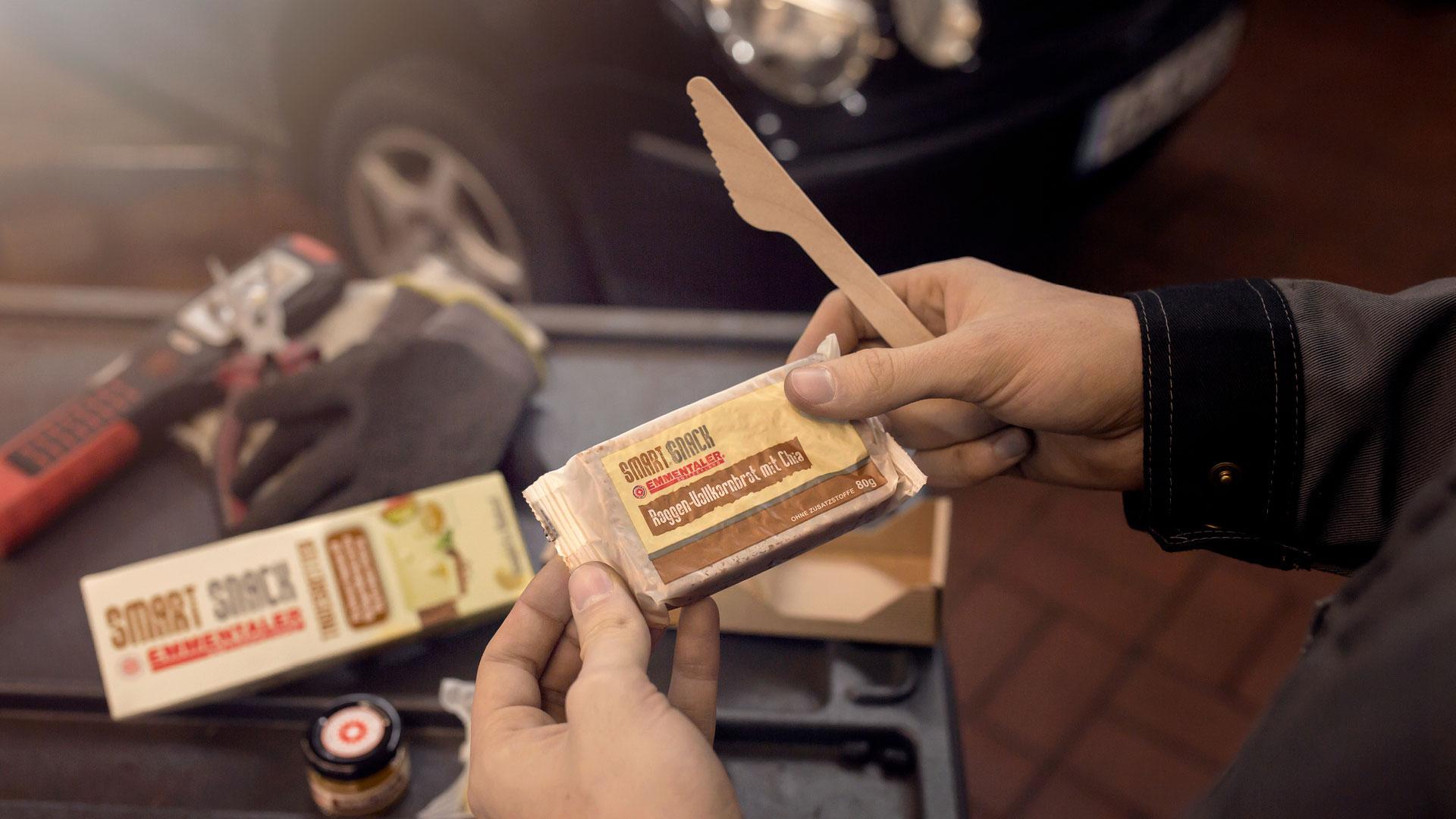 Emmentaler Smart Snack Shooting Setting Autowerkstatt