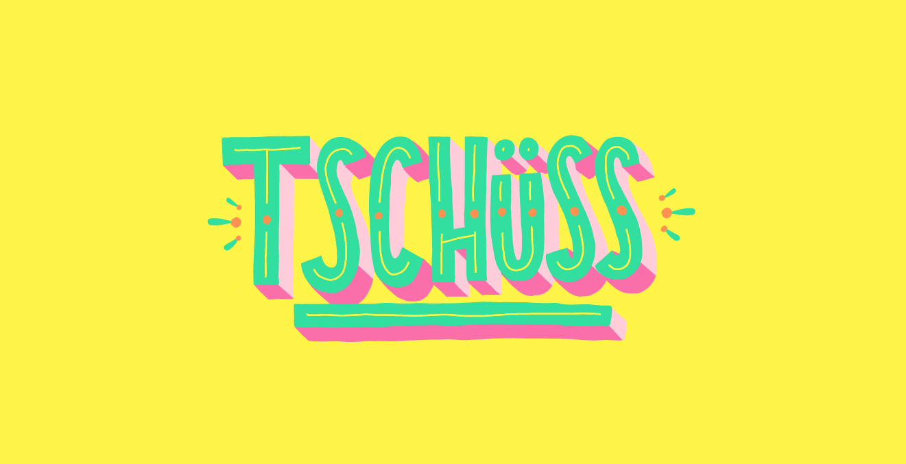 "Snapchat Sticker Basic Words ""Tschüss"""