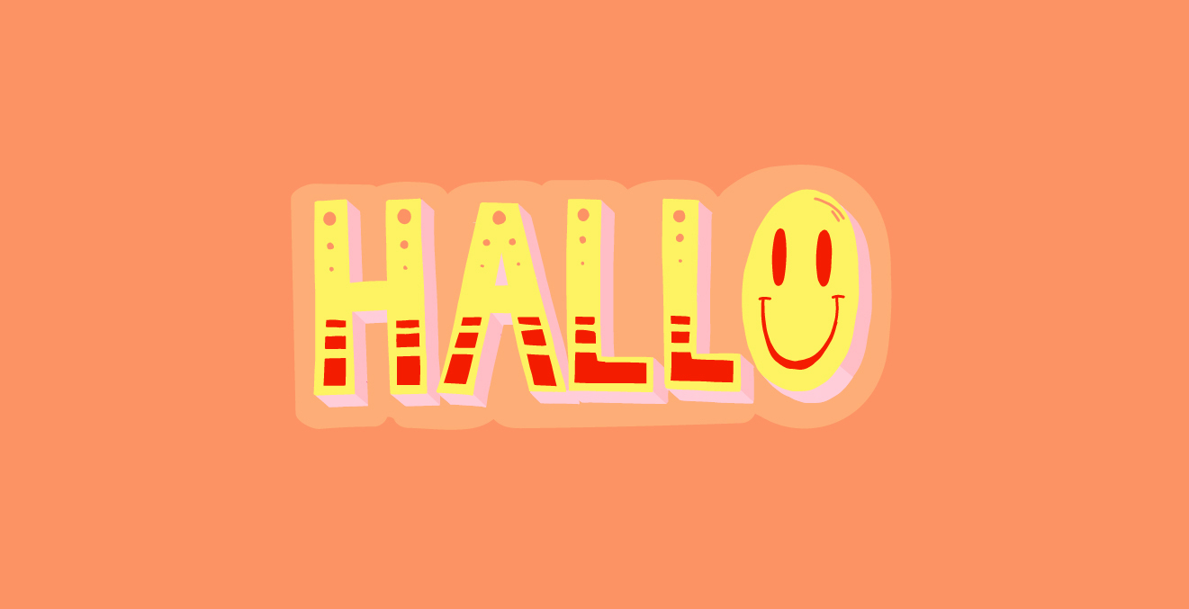 "Snapchat Sticker Basic Words ""Hallo"""