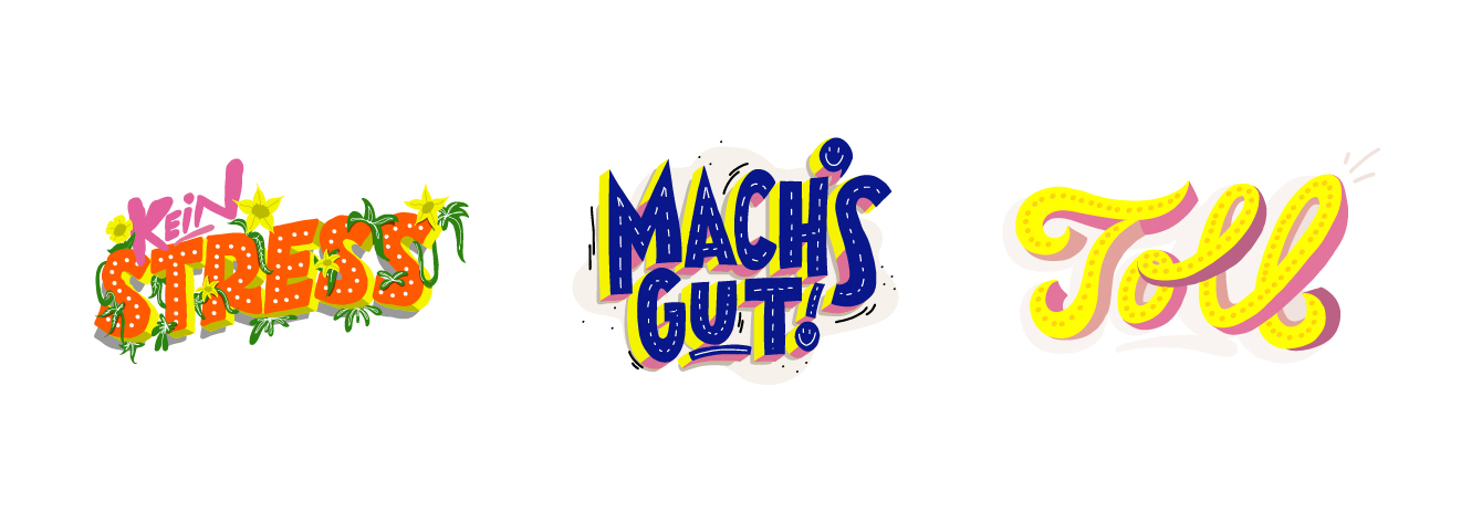 "Snapchat Sticker Basic Words ""Machs gut"""