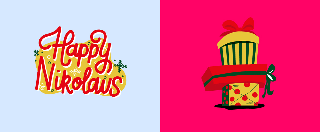 "Snapchat Case ""Xmas"" Sticker Illustration Nikolaus 2"