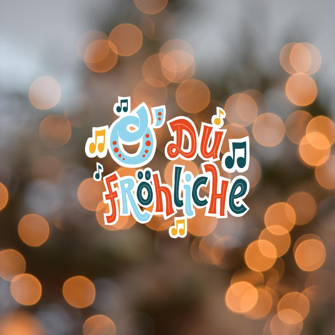 "Snapchat ""xmas"" Sticker ""O, Du Fröhliche"""