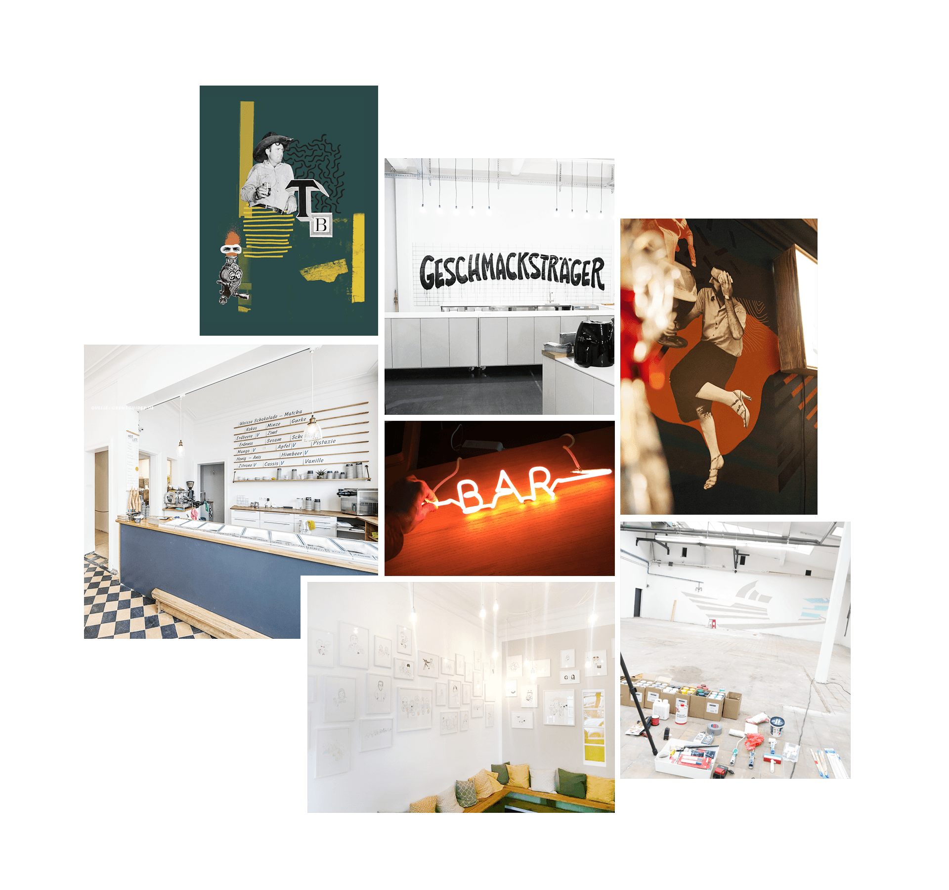 Installationen und Wandbemalungen Ben und jan Kunden Interior Design