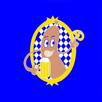 Illustration Snapchat Oktoberfest Sticker