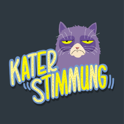 Illustration und Lettering Snapchat Katerstimmung