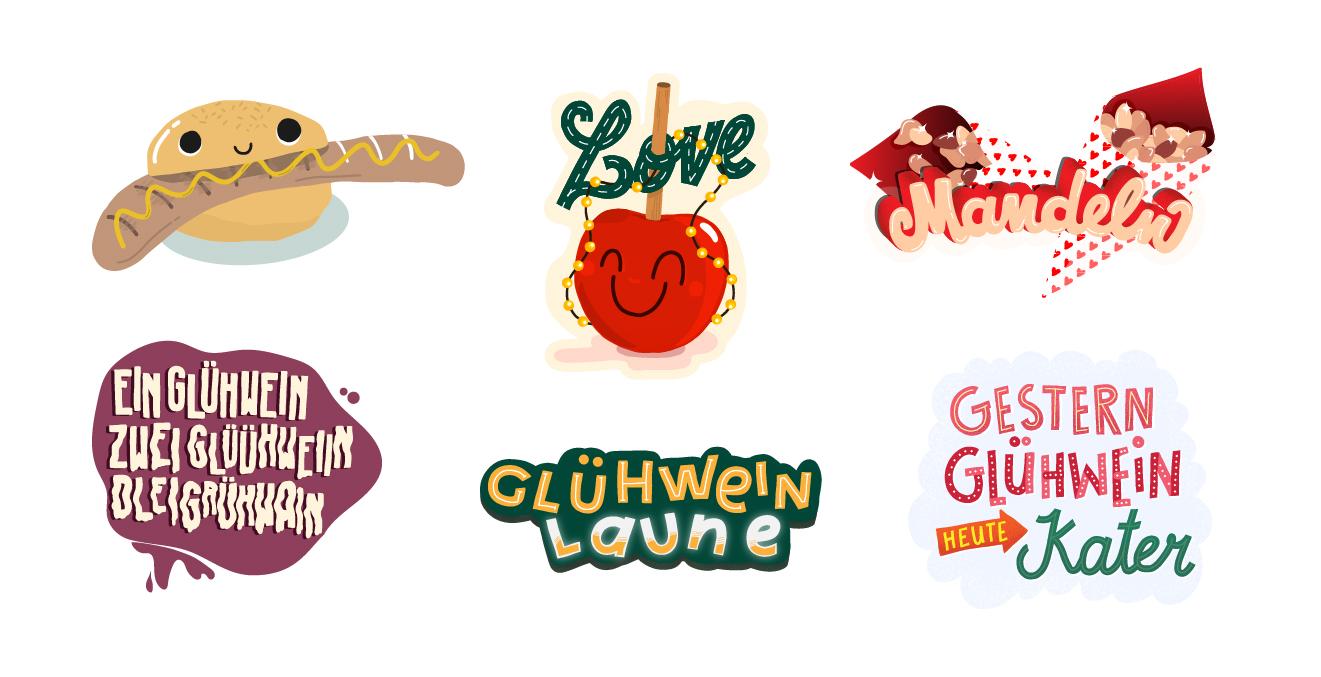 "Snapchat Case ""Xmas"" Sticker ""Gestern Glühwein, heute Kater"""