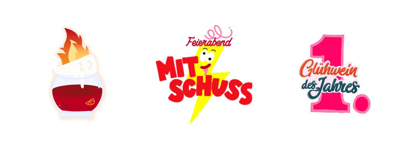 """Snapchat Case """"Xmas"""" Sticker """"Glühwein mit Schuss"""""""