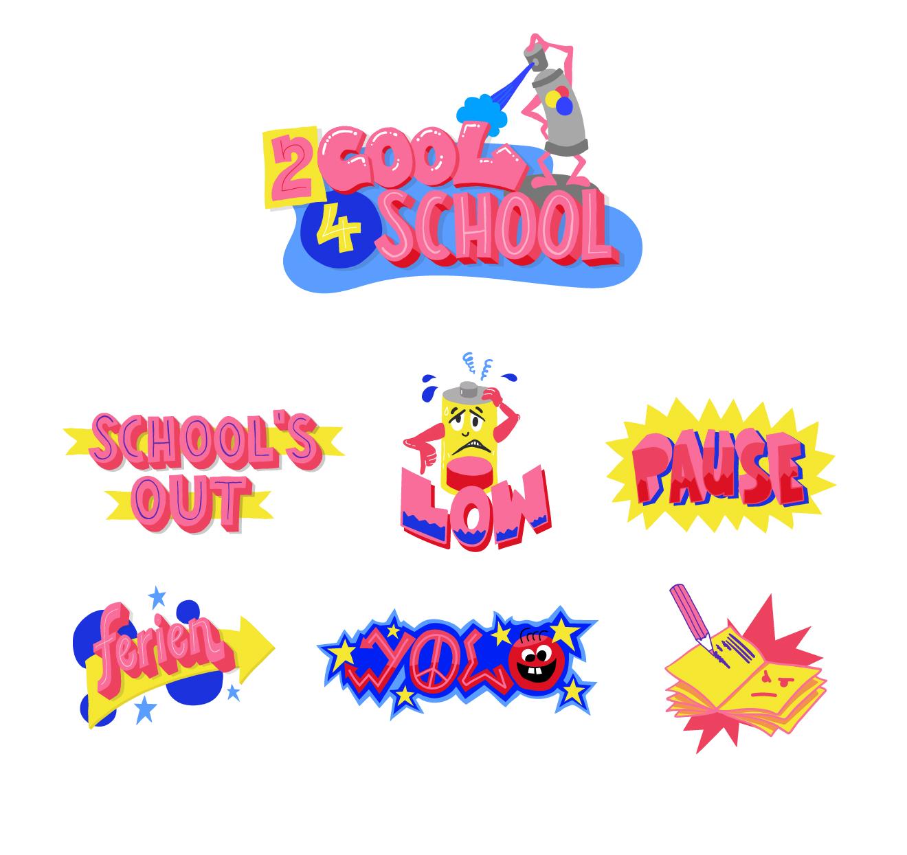 Snapchat Sticker Pack School