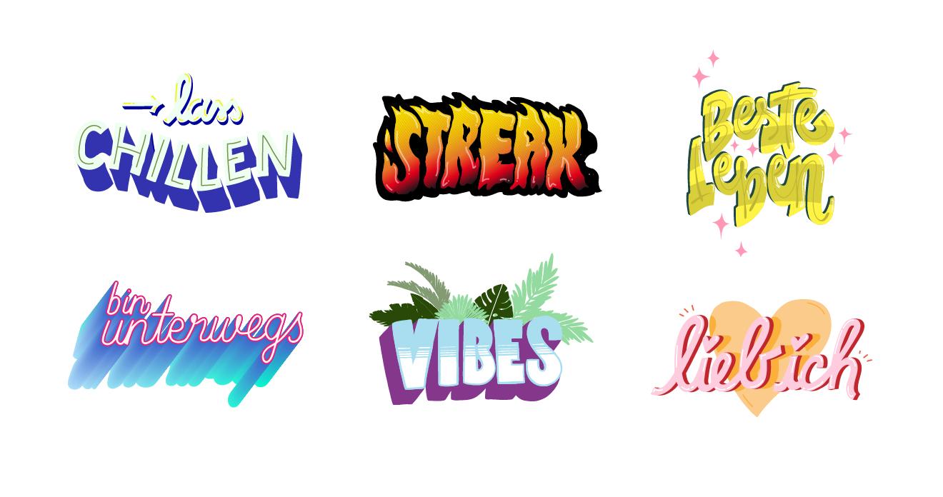 Snapchat Sticker Beste Leben und Co