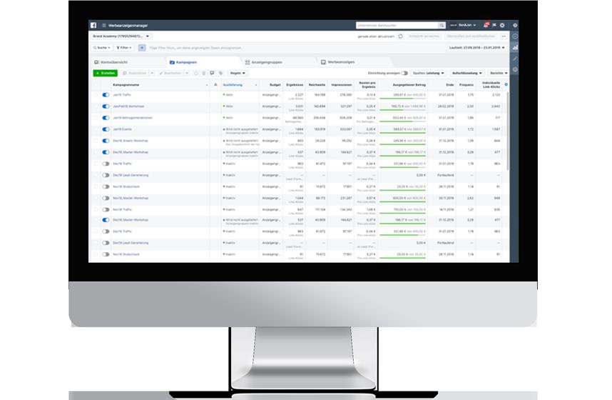 Social Media Facebook Business Manager Mockup iMac