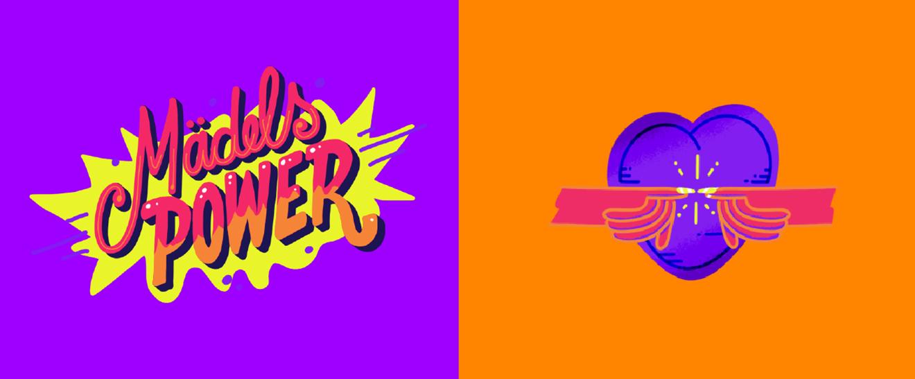 """Snapchat Weltfrauentag """"Mädelspower"""" Sticker"""