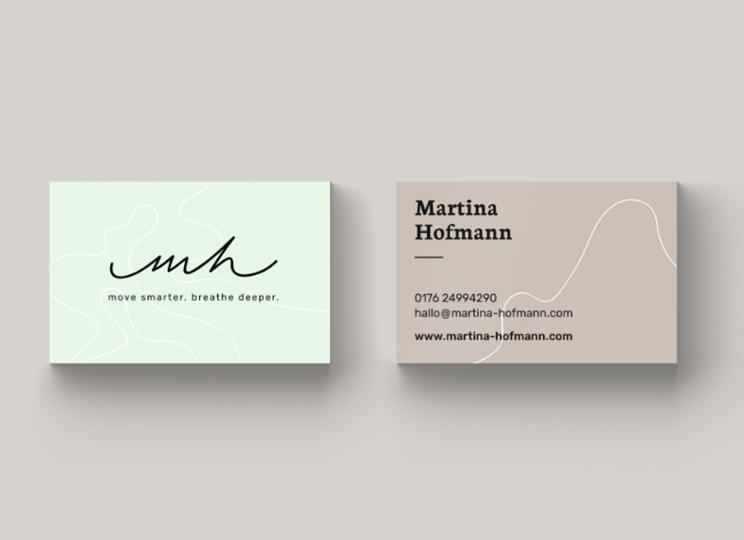 Branding Geschäftsausstattung Maria Hoffmann Yoga