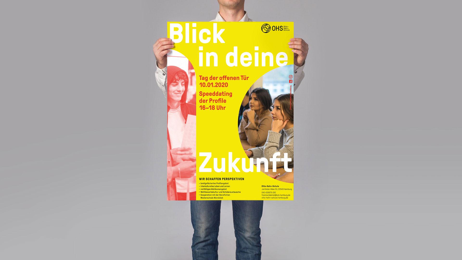 Otto-Hahn-Schule Plakat Blick in die Zukunft