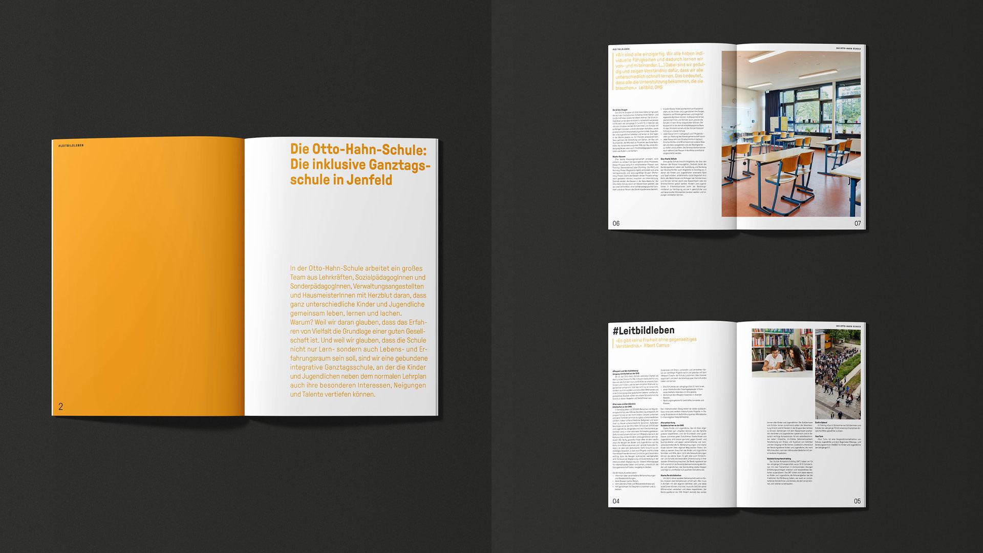 Otto-Hahn-Schule Brand Design Magazin Layout