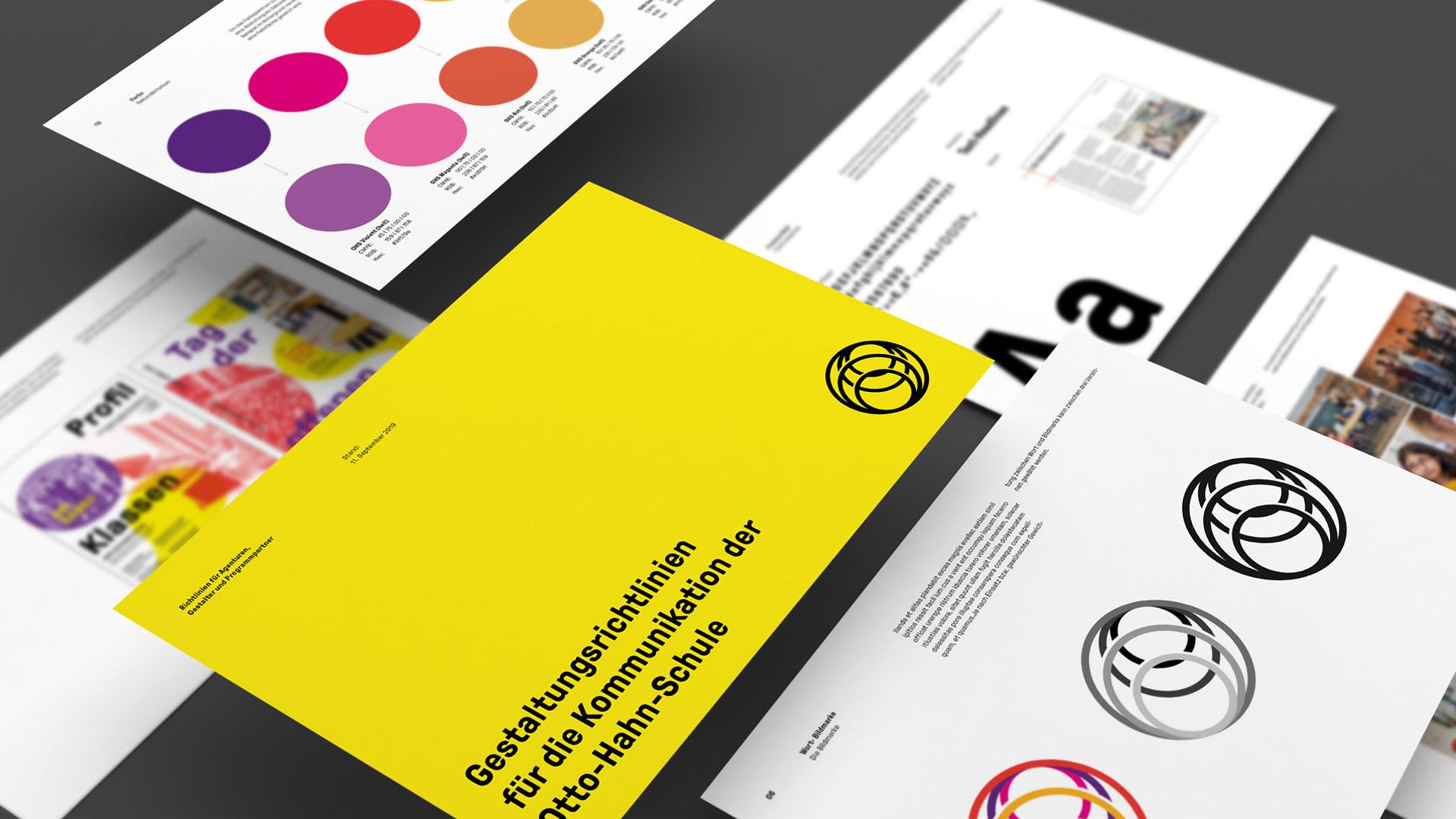 Otto-Hahn-Schule Brand Design Gestaltungselemente