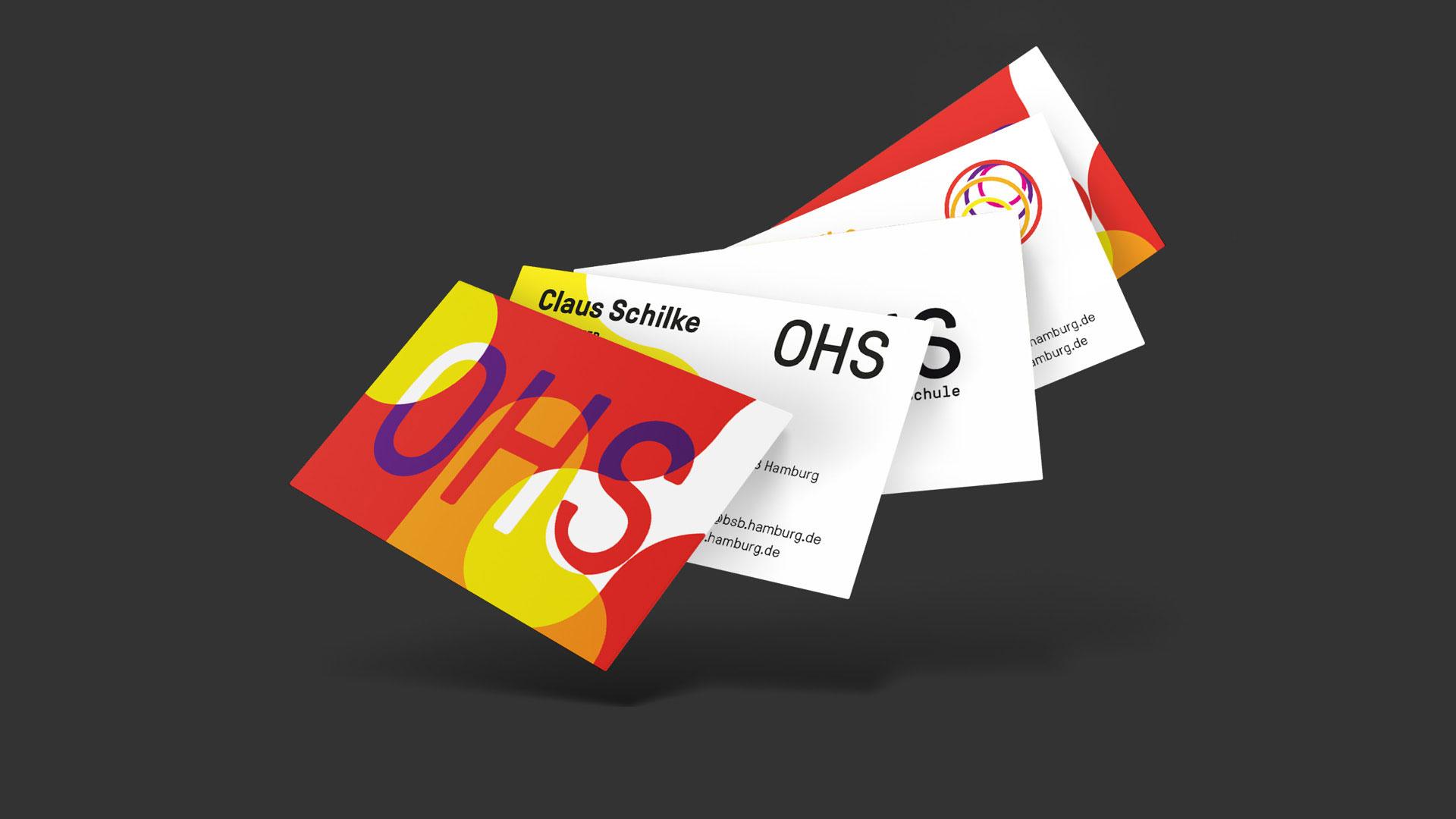 Otto-Hahn-Schule Visitenkarten Layout