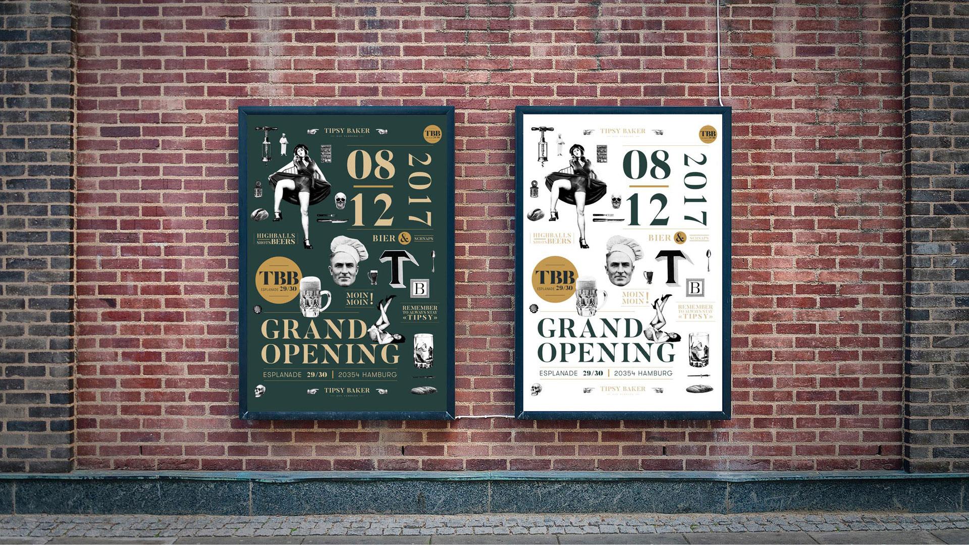 Tipsy baker Bar Hamburg Opening Poster