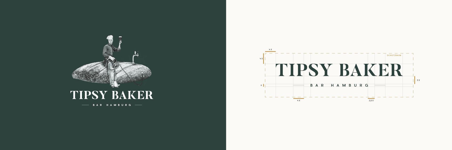 Tipsy baker Bar Hamburg Logo mit und ohne Visual