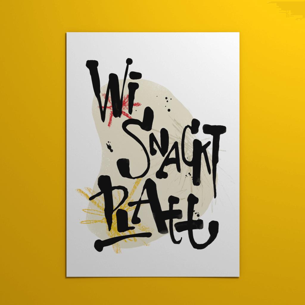 "Echt.Niedersachsen Platt Spezial ""Wi Snackt Platt"" Poster"