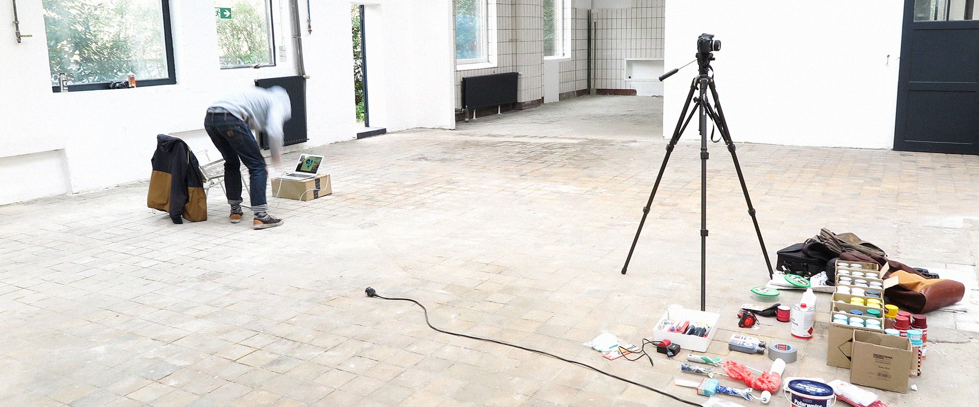 Bastian Hubald Vorbereitung Wandgestaltung