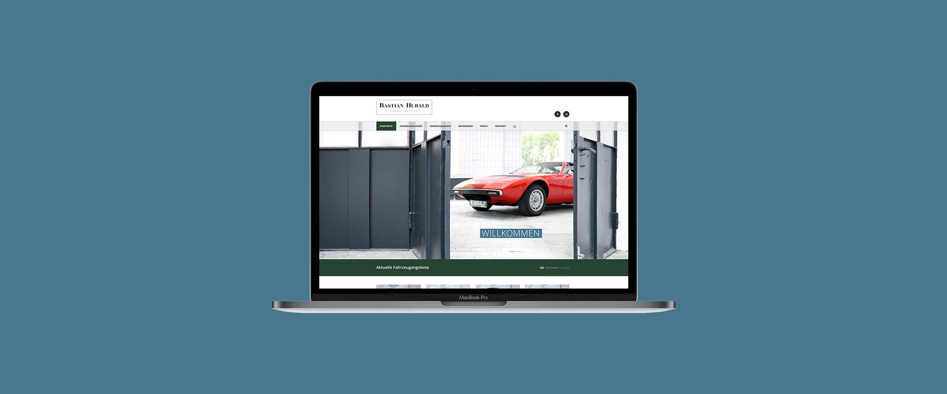 Bastain Hubald Mockup Webseite