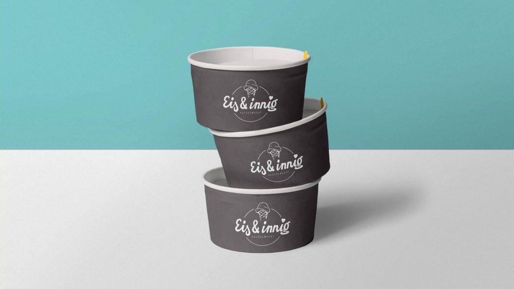 Eis & innig Brand Design Eisbecher
