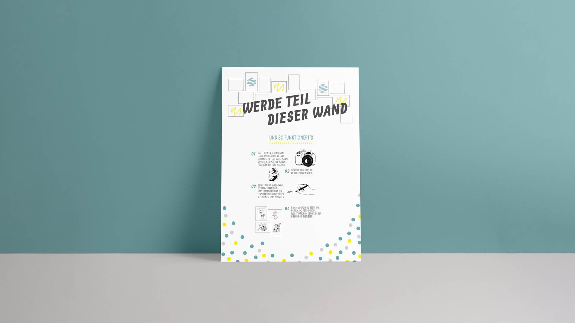 Eis & Innig Brand Design Illustrations-Tafel