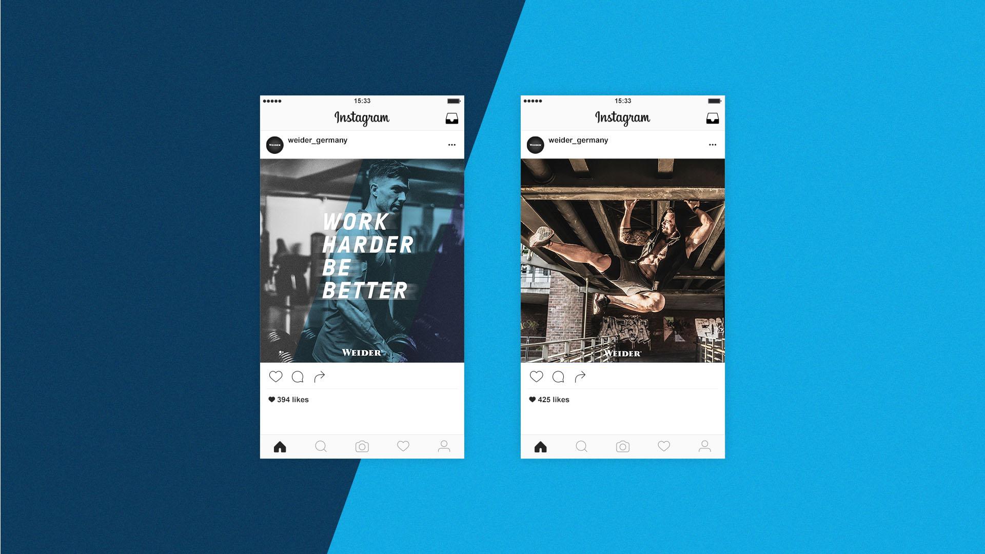 Weider Germany Mockup Instagram-Postings
