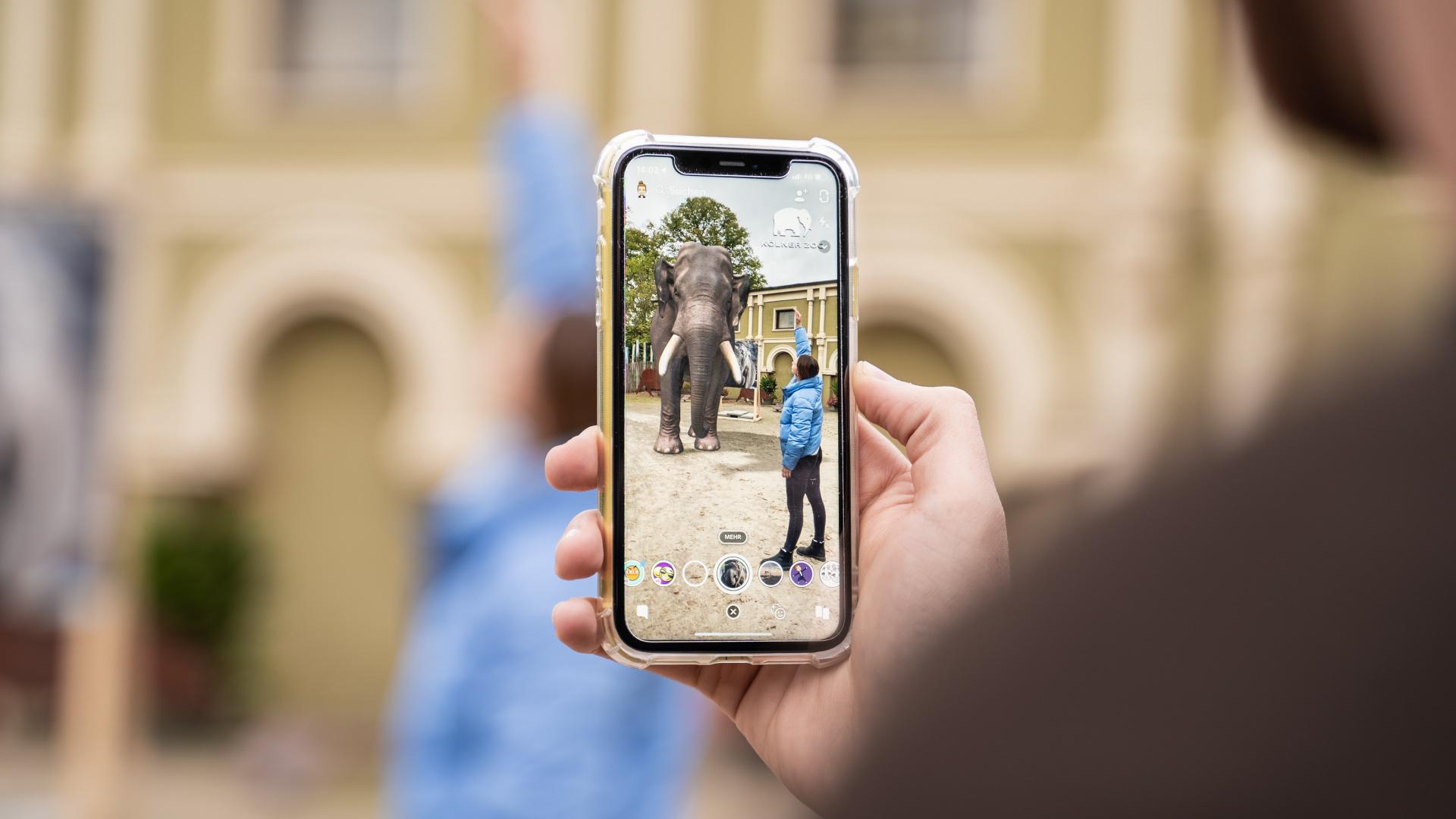 Koelner Zoo x Snapchat AR-Lense Elefant