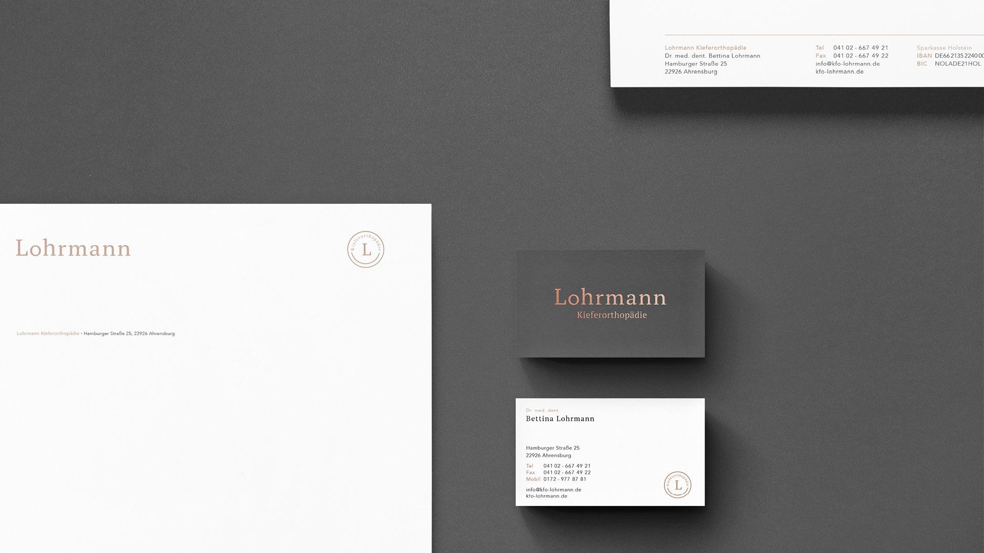 Kieferorthopäde Lohrmann Geschäftsausstattung Design