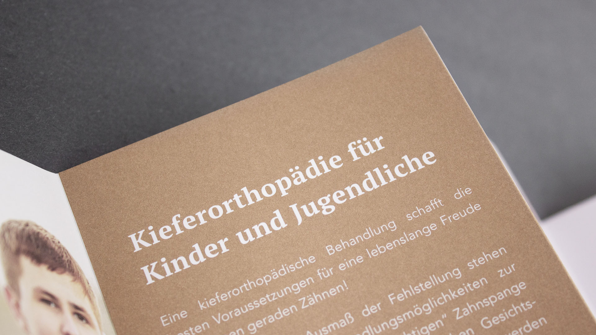 Kieferorthopäde Lohrmann Werbemittel Design