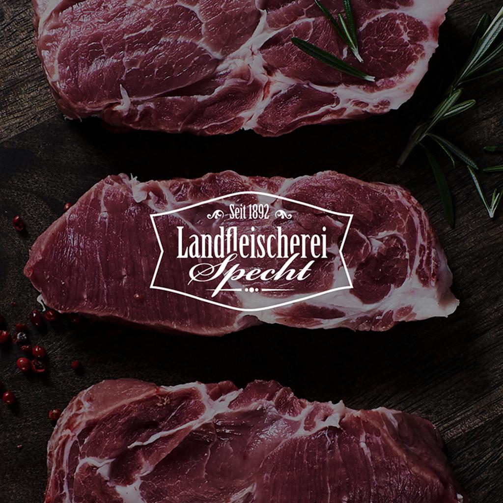 Logo Branding Design Landfleischerei Specht