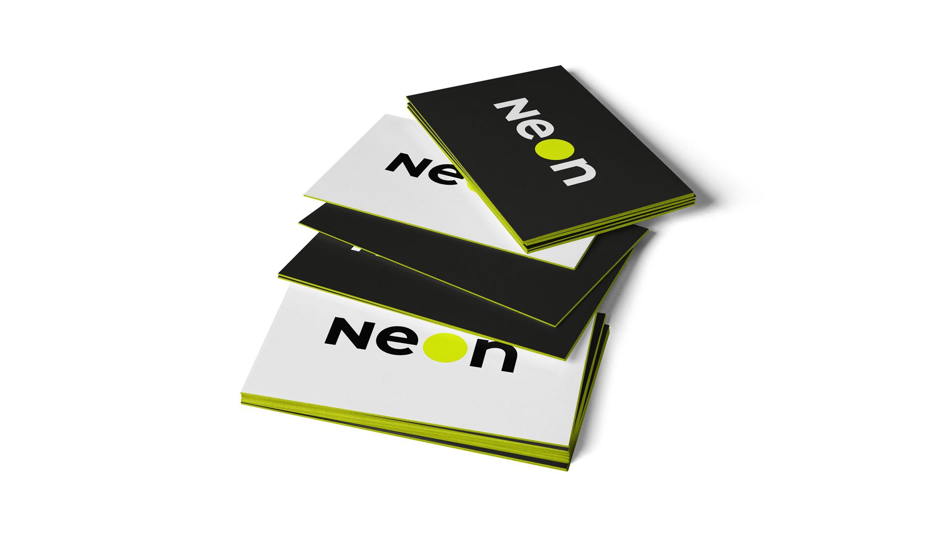 Visitenkarten Neon Design